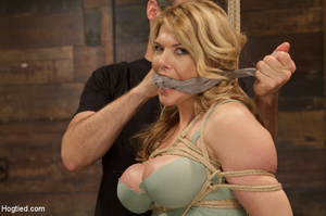 Big boobs chick gets stripped nude, rope - XXX Dessert - Picture 2