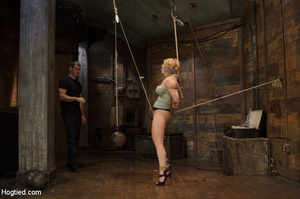 Big boobs chick gets stripped nude, rope - XXX Dessert - Picture 4