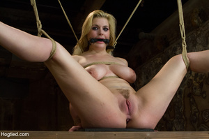 Lusty blonde pegged on cunt and tied wit - XXX Dessert - Picture 2