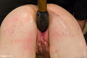 Lusty blonde pegged on cunt and tied wit - XXX Dessert - Picture 5