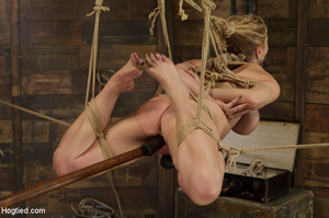 Big boobs chick gets stripped nude, rope - XXX Dessert - Picture 11