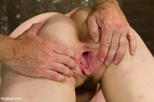 Lusty blonde pegged on cunt and tied wit - XXX Dessert - Picture 7