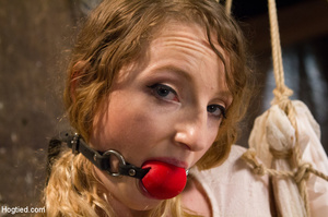 Lusty blonde pegged on cunt and tied wit - XXX Dessert - Picture 9