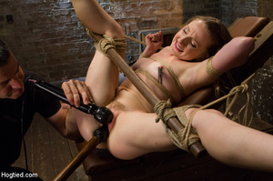 Lusty blonde pegged on cunt and tied wit - XXX Dessert - Picture 13
