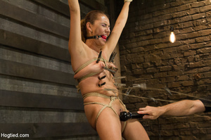 Slime seductive babe tied with rope gets - XXX Dessert - Picture 6
