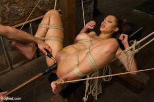 Chick moans in pleasure and pain as she  - XXX Dessert - Picture 12