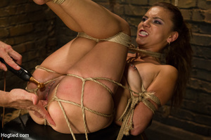 Slime seductive babe tied with rope gets - XXX Dessert - Picture 8