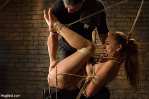Slime seductive babe tied with rope gets - XXX Dessert - Picture 10