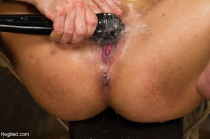 Chick moans in pleasure and pain as she  - XXX Dessert - Picture 14