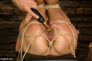 Slime seductive babe tied with rope gets - XXX Dessert - Picture 11