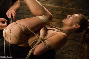 Slime seductive babe tied with rope gets - XXX Dessert - Picture 12