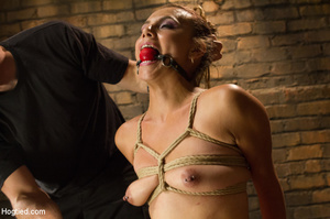 Slime seductive babe tied with rope gets - XXX Dessert - Picture 14