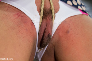Girl folded and tied up as guy clips tit - XXX Dessert - Picture 3
