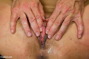 Girl folded and tied up as guy clips tit - XXX Dessert - Picture 8