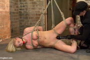 gagged blonde stripped nude