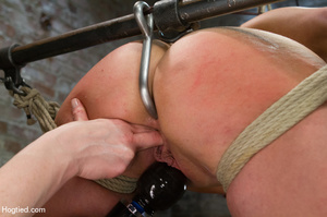 Nude girl bound with head covered and ti - XXX Dessert - Picture 2