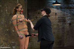 Nude girl bound with head covered and ti - XXX Dessert - Picture 8