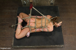 Nude girl bound with head covered and ti - XXX Dessert - Picture 9