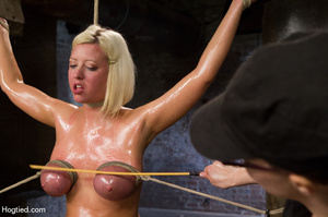 Sexy blonde hung and strapped with cute  - XXX Dessert - Picture 6