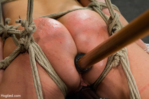 Nude girl bound with head covered and ti - XXX Dessert - Picture 10