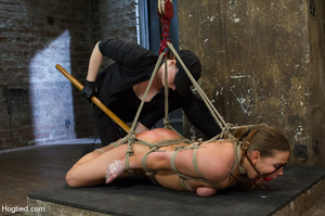 Nude girl bound with head covered and ti - XXX Dessert - Picture 11