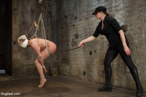 Nude girl bound with head covered and ti - XXX Dessert - Picture 14