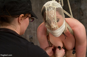 Nude girl bound with head covered and ti - XXX Dessert - Picture 15