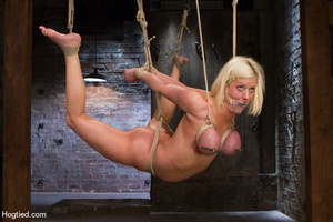 Sexy blonde hung and strapped with cute  - XXX Dessert - Picture 15