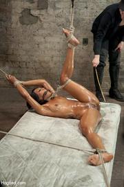 creamy ebony stripped and