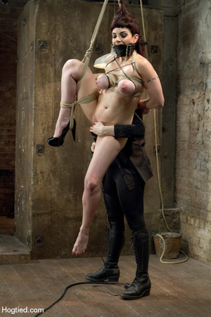 Cute babe bound in kinky positions with  - XXX Dessert - Picture 9