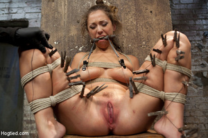 Hardcore bondage as babe is racked and r - XXX Dessert - Picture 13