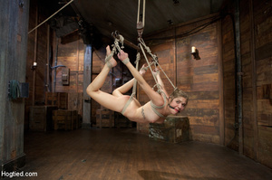 White chick gets roped and suspended as  - XXX Dessert - Picture 6