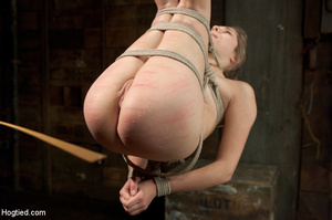White chick gets roped and suspended as  - XXX Dessert - Picture 9