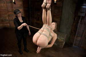 White chick gets roped and suspended as  - XXX Dessert - Picture 10