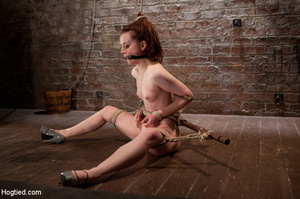 Young beauty with hairy tush bound and r - XXX Dessert - Picture 13