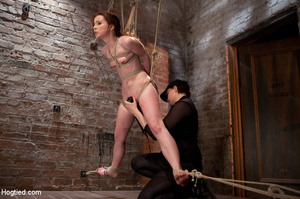 Sweet nude babe roped and hung with head - XXX Dessert - Picture 6