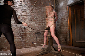 Sweet nude babe roped and hung with head - XXX Dessert - Picture 9