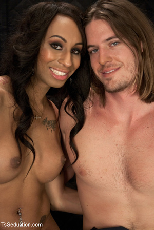Tattoo honey skin shemale and white dude - XXX Dessert - Picture 13