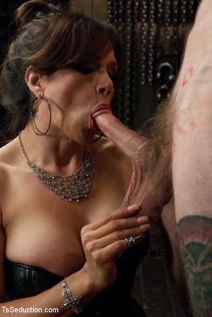 Sexy tranny chick butt fucks tattooed gu - XXX Dessert - Picture 3