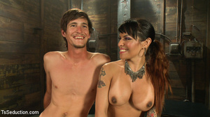 Hot tattooed shemale and slim dude in ho - XXX Dessert - Picture 13