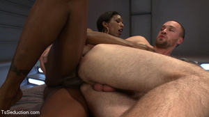 Beautiful black shemale and white dude s - XXX Dessert - Picture 13