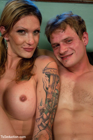 Tattooed tranny sucks tattoed stud's coc - XXX Dessert - Picture 15
