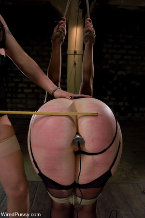 Tied up chick licks cunt and worship fee - XXX Dessert - Picture 2