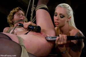 Tied up chick licks cunt and worship fee - XXX Dessert - Picture 13