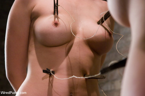 Two nude sexy girls bound, pegged, wired - XXX Dessert - Picture 7