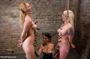 Two nude sexy girls bound, pegged, wired - XXX Dessert - Picture 14