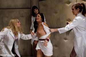 White coats sluts strip chick to tie and - XXX Dessert - Picture 2