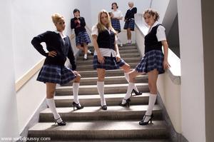 Nuaghty school girls tie up friend, make - XXX Dessert - Picture 2