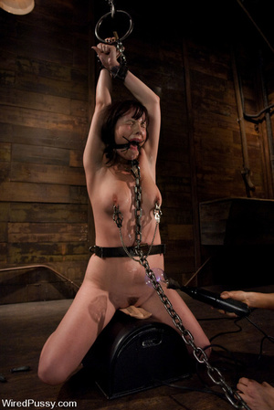 Slim girl bound, tied, wired on thighs a - XXX Dessert - Picture 12