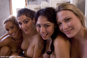 Nuaghty school girls tie up friend, make - XXX Dessert - Picture 15